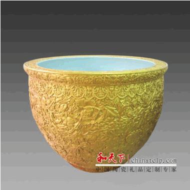 供应中国风景德镇青花瓷大缸 招财陶瓷装饰大摆件 大缸风水
