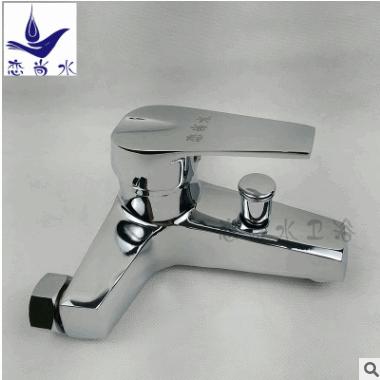 厂家批发 名佳三联浴缸龙头双用出水接淋浴管 锌合金冷热暗装龙头