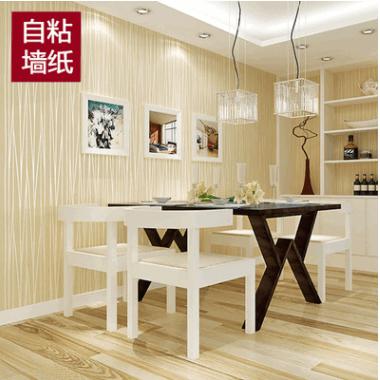 自粘无纺布壁纸现代简约墙纸卧室月光森林竖条客厅宿舍自贴背胶