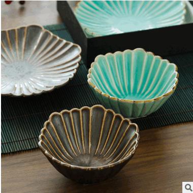 日本进口陶瓷餐具礼品 日式色釉盘子 甜点碗 小菜钵