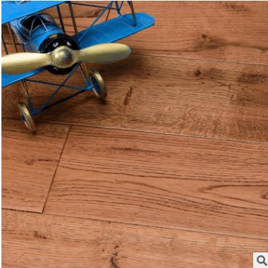 全国招代理商仿古手抓纹实木地板18mm进口北欧橡木木地板厂家直销