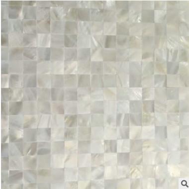 欧式简约贝壳马赛克瓷砖 纯白色网密拼 背景墙卫生间背景墙装饰