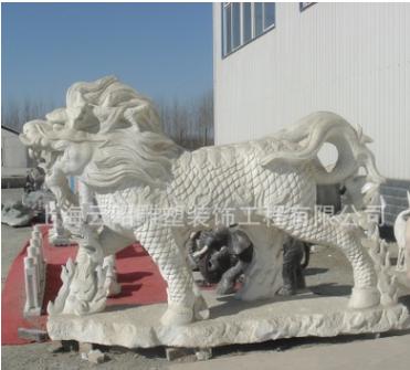 供应天然石雕,传统祥兽麒麟,别墅门口,公园城市景观,动物雕刻