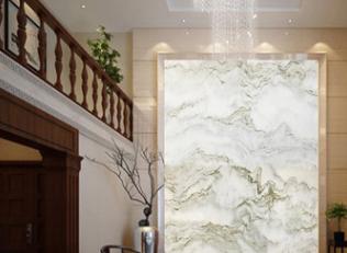 天然山水纹大理石 山水纹背景墙 天然水墨山水画大理石客厅背景