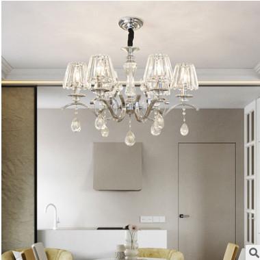 客厅灯现代简约水晶灯大气餐厅灯具温馨卧室灯欧式水晶吸顶灯吊灯
