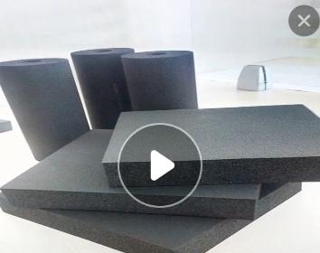 橡塑b1级复合铝箔贴面橡塑海绵板|橡塑保温棉 |吸音隔热橡塑定制