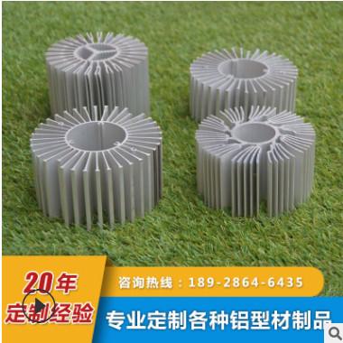 散热器铝型材 LED太阳花散热器 铲齿散热器 IGBT高密齿纯铝散热片
