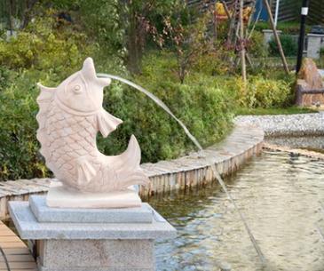 石雕喷泉喷水户外庭院园林景观宾馆装饰摆件寺院风景区