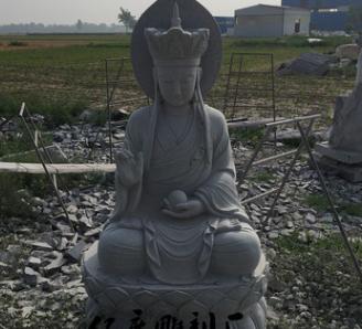 厂家直销 青石雕塑 地藏王菩萨 室外寺庙供奉用品 佛道雕塑可订做