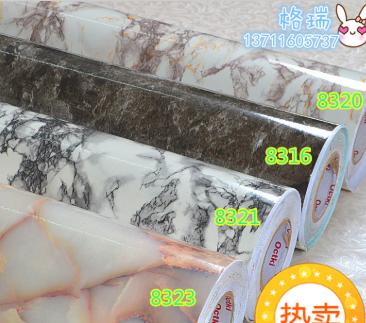 加厚大理石自粘PVC墙壁纸壁纸彩装膜彩装模防火防潮墙纸