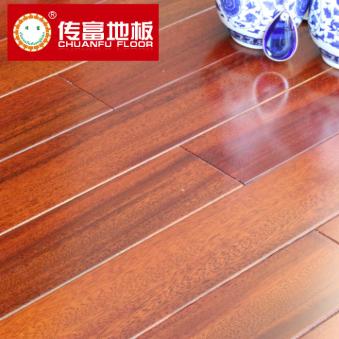 传富地板 实木地板 圆盘豆 绿柄桑 耐磨大自然环保 家用木地板