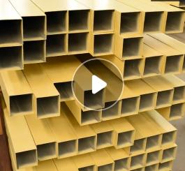 厂家直销铝方管 6061铝管定制木纹铝合金方管 铝型材方管加工