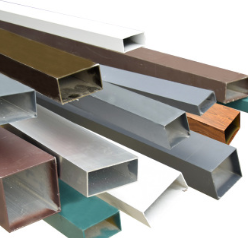 厂家直销工业铝型材 铝方管定制氧化铝管 彩色铝合金方管