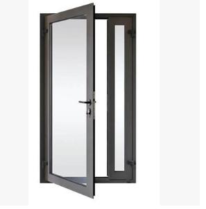 温州坚美牌铝断桥隔热70系列平开门(5mm+9A=5mm)钢化中空玻璃门