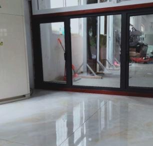 厂家直销灰色50铝合金平开窗户大量订制门窗工程安装加工三十年