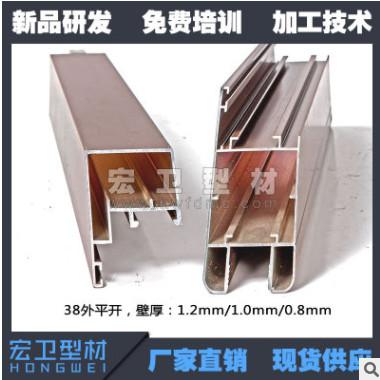 厂家直销新型38平开金刚网纱窗铝型材 金钢网防盗纱窗铝合金型材