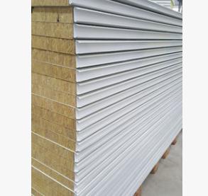直销彩钢夹芯板 建筑工程防火岩棉夹芯板 隔热岩棉彩钢板可定制