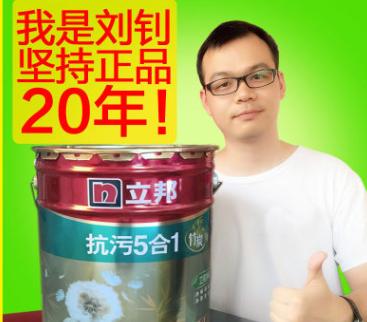 立邦竹炭抗污5合1室内墙面漆 批发价 净味环保 抗碱防霉