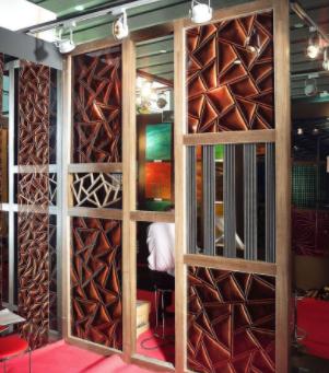 专业生产3D立体玻璃系列 隔断玻璃 玻璃屏风 玻璃背景 实地