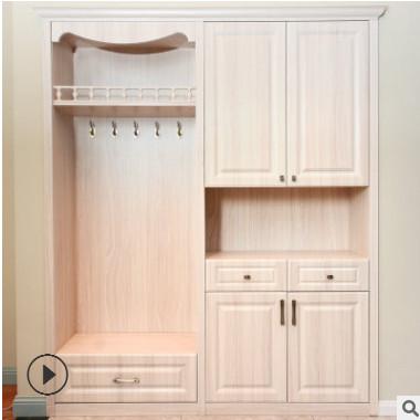 供应欧式板材多功能吸塑门鞋柜 可定制家用衣柜组合家具批发
