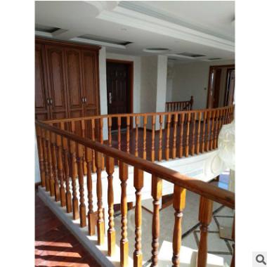 批发实木楼梯方柱 阁楼精雕木栏杆家用木扶手楼梯实木护栏