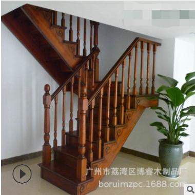 专业定制安装室内实木楼梯扶手立柱复式阁楼飘窗栏杆护栏厂家直销