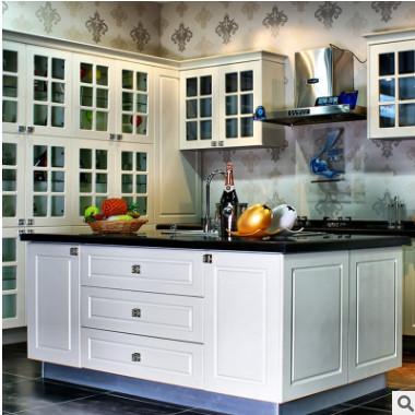 武汉整体橱柜厂精装房工程配套橱柜 现代厨房整体橱柜石英石橱柜