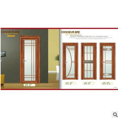 佛山厂家直销铝合金平开门 卫生间门 钢化玻璃浴室门 可定制