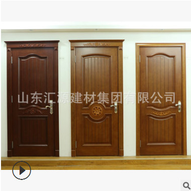 专业供应整套室内防盗门 免漆整套实木门 欧式木门定制