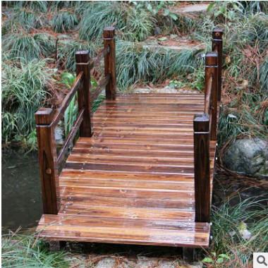 防腐木木桥碳化木小木桥 花园木拱桥 景区大桥 装饰桥 支持定制