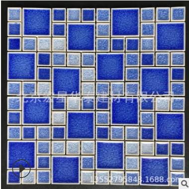 厂家直销陶瓷马赛克窑变瓷砖绿色厨房卫生间墙面阳台花园地面砖