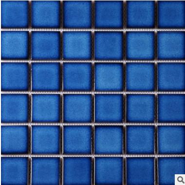 结晶釉陶瓷马赛克卫生间游泳池马赛克 水波纹泳池马赛克48mm