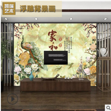 彩雕电视背景墙 瓷砖精雕国画背景墙 清明上河图000032