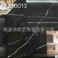 佛山瓷砖80*80深色通体大理石 黑白根地板砖 大理石色砖