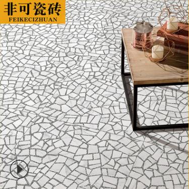北欧水磨石瓷砖600x600客厅餐厅厨房地板砖耐磨防滑地砖仿古砖