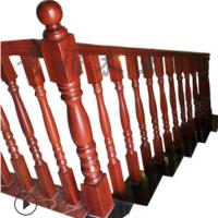 厂家直销实木扶手楼梯立柱自建别墅木质栏杆楼梯扶手柱子批发零售
