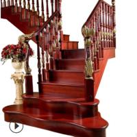 木楼梯扶手家用复试别墅室内楼梯扶手实木定制加工批发奇雅木制品
