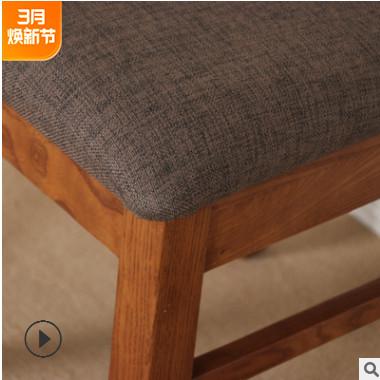 新款白橡木实木餐桌组合北欧户型白橡木长方形桌子椅子厂家直销