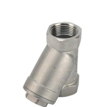 304不锈钢Y型过滤器内螺纹全通径法兰式Y型过滤器蒸汽管道过滤器
